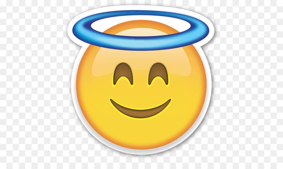Emoji sticker tshirt emoticon. Halo clipart innocence