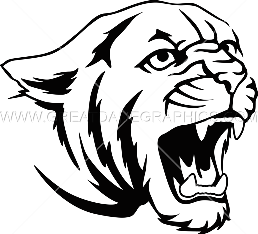 Halo clipart outline. Cougar black and white