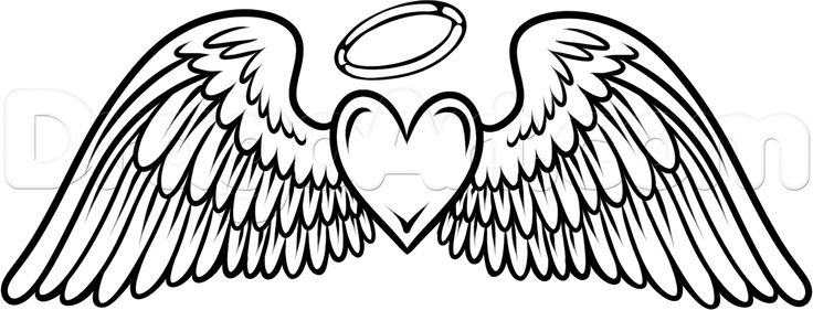 Halo clipart outline.  angel wings clip