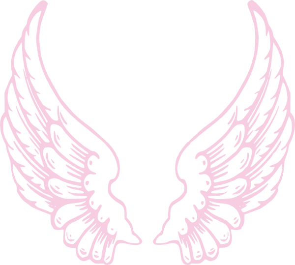 Wing clipart pink. Angel wings clip art