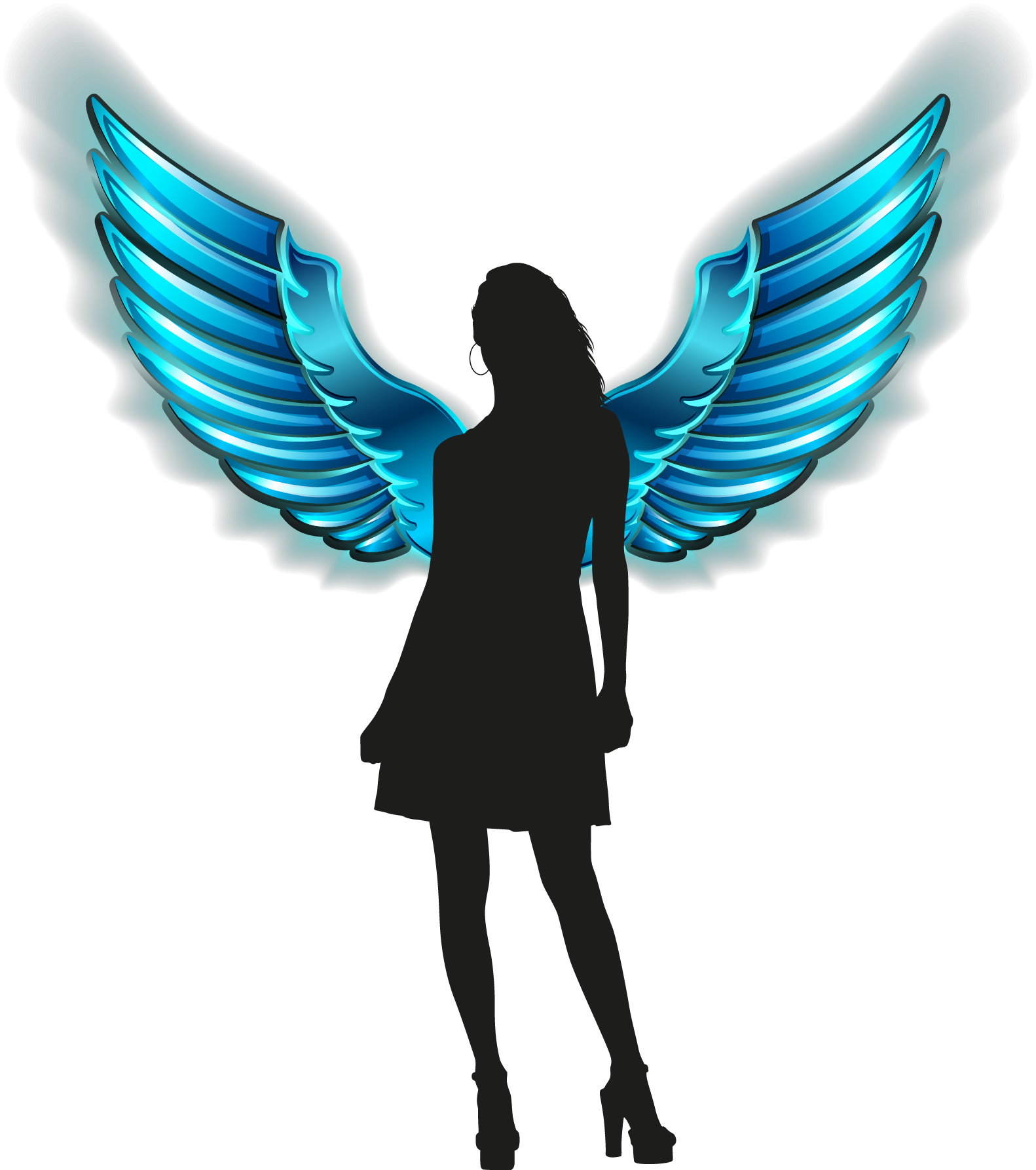 Wing clipart guardian angel. Silhouette tattoos at getdrawings