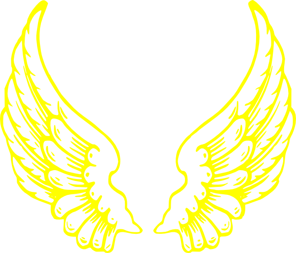 Wing clipart halo. Yellow wings clip art