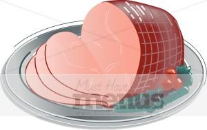Ham clipart. Meat