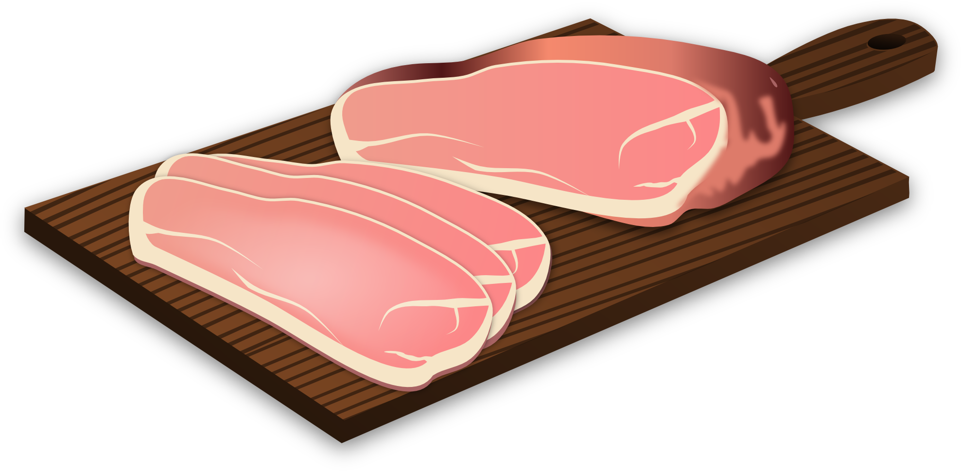 Ham clipart chopped.  collection of sliced