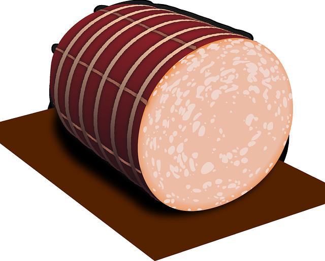 Ham clipart chopped. Salami panda free images