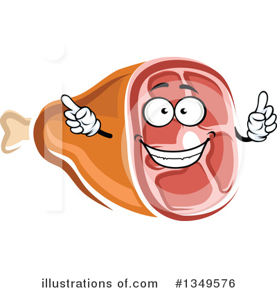 Ham clipart face. Illustration by vector tradition