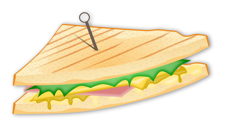 Sandwich clipart peanut butter jelly. Submarine ham and cheese