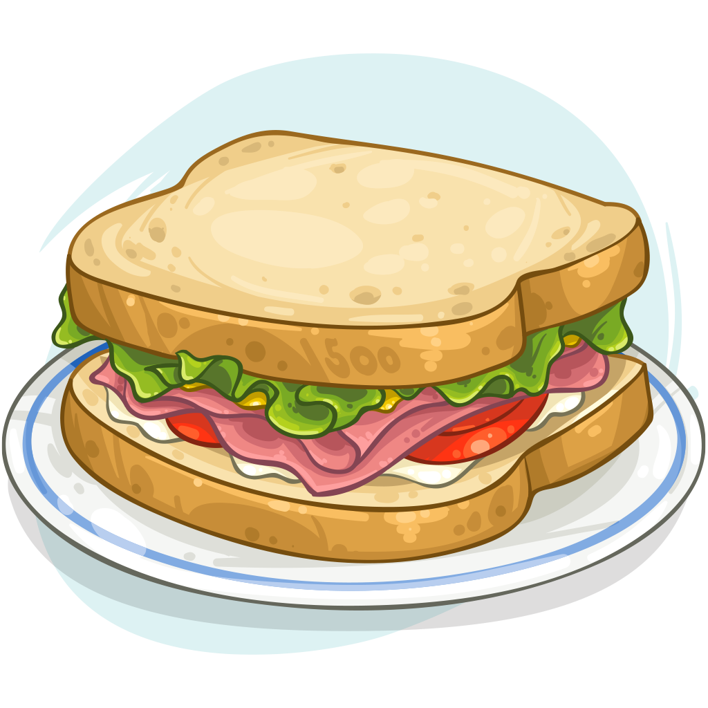 Item detail sandwich itembrowser. Ham clipart ham cheese