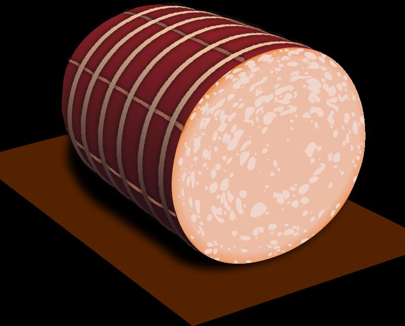 Bologna panda free images. Ham clipart ham slice