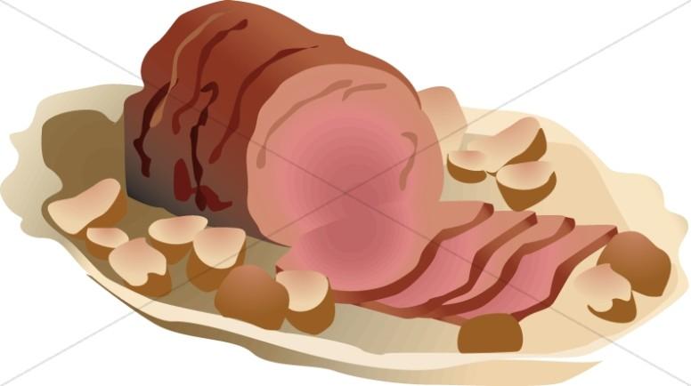 Ham clipart holiday ham. Church food