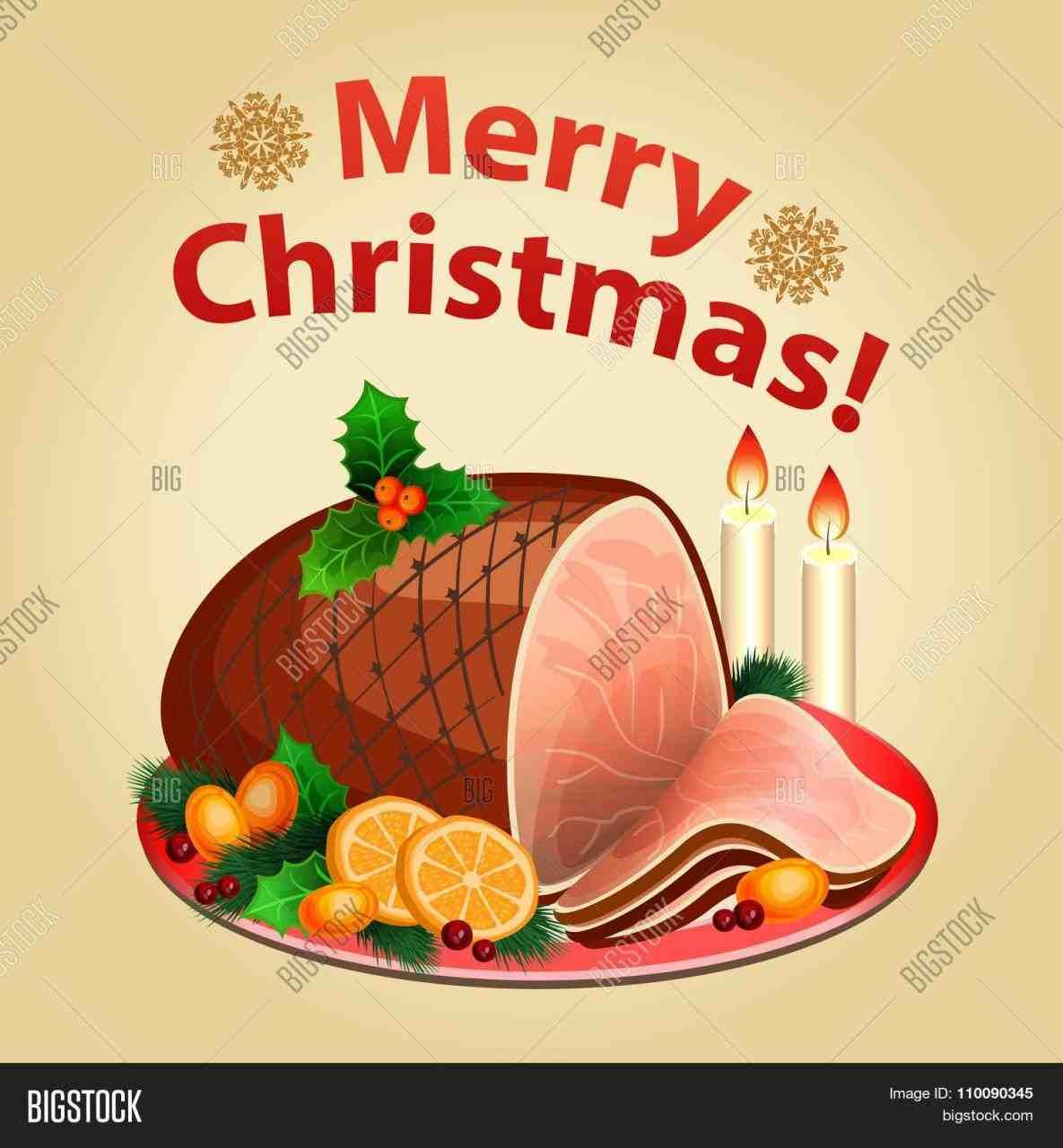 Ham clipart holiday ham. Christmas food clip art