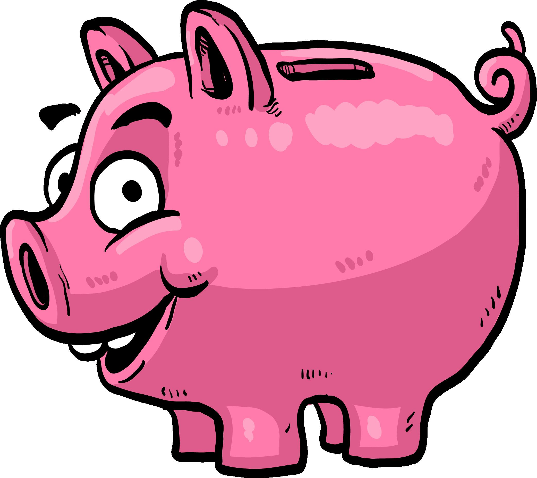 Red clipart piggy bank. Money saving clip art