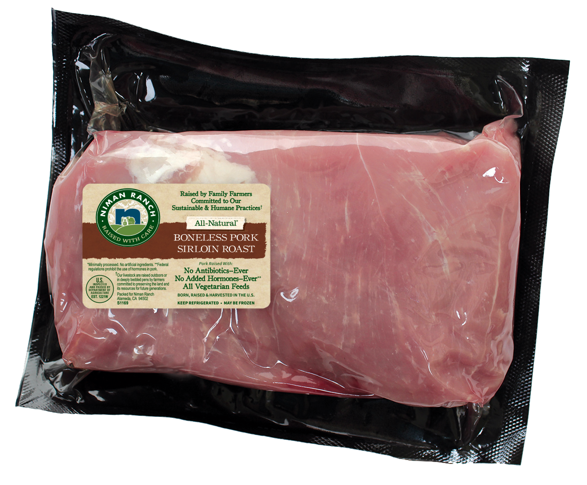 All natural boneless sirloin. Ham clipart pork roast