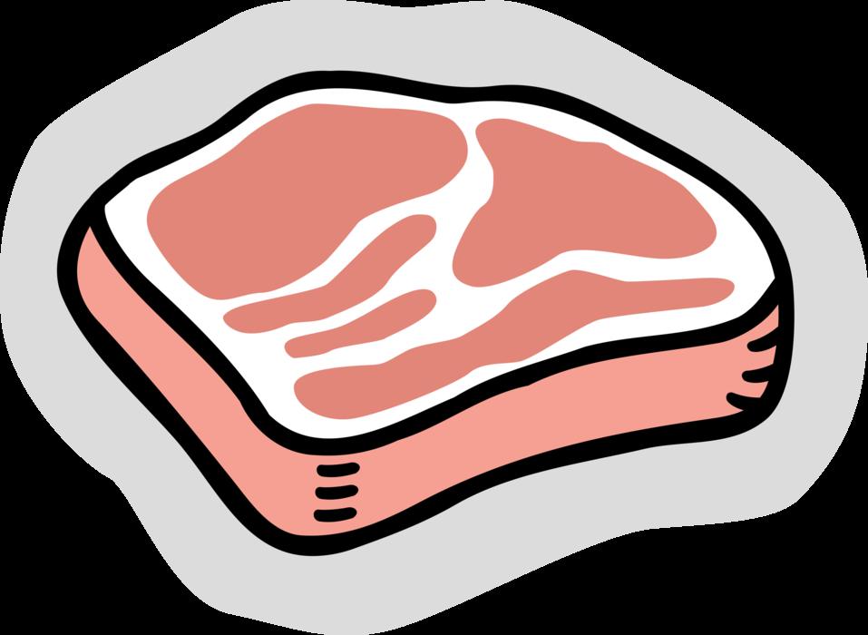 Italian vector image illustration. Ham clipart prosciutto