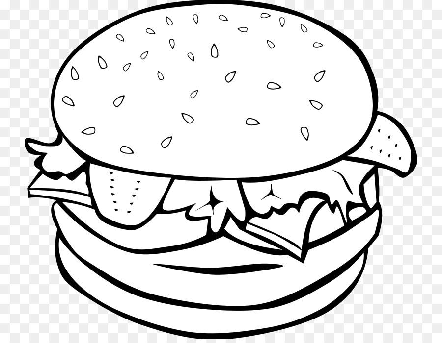 Fast food cheeseburger chicken. Hamburger clipart
