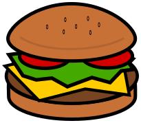 Hamburger clipart. Food meat png html