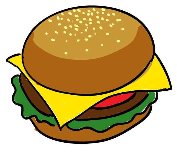 Cliparts draw png clipartix. Hamburger clipart
