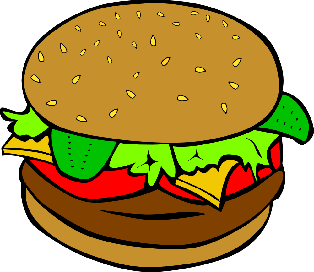 Hamburger clip art pictures. Exercising clipart food