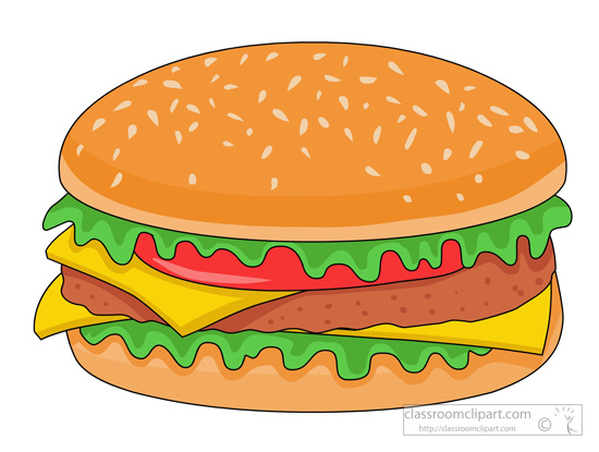 Hamburger clipart. Fast food cheese classroom