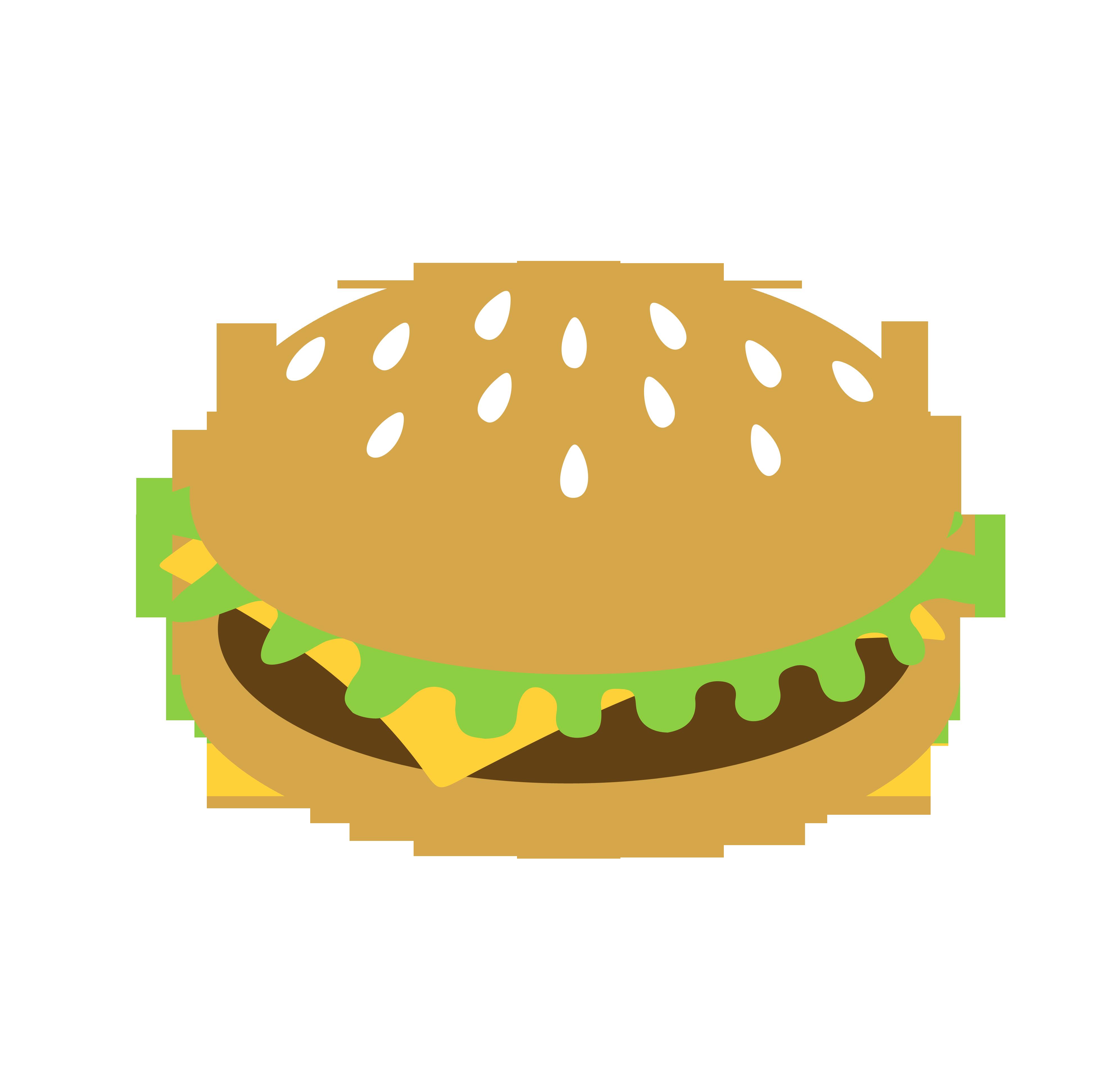 Veggie bacon cheeseburger free. Burger clipart simple