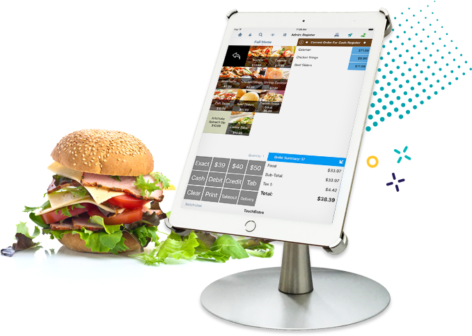 Truck point of sale. Hamburger clipart concession food