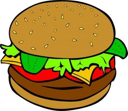 Hamburger clipart junk food. Clip art projects to