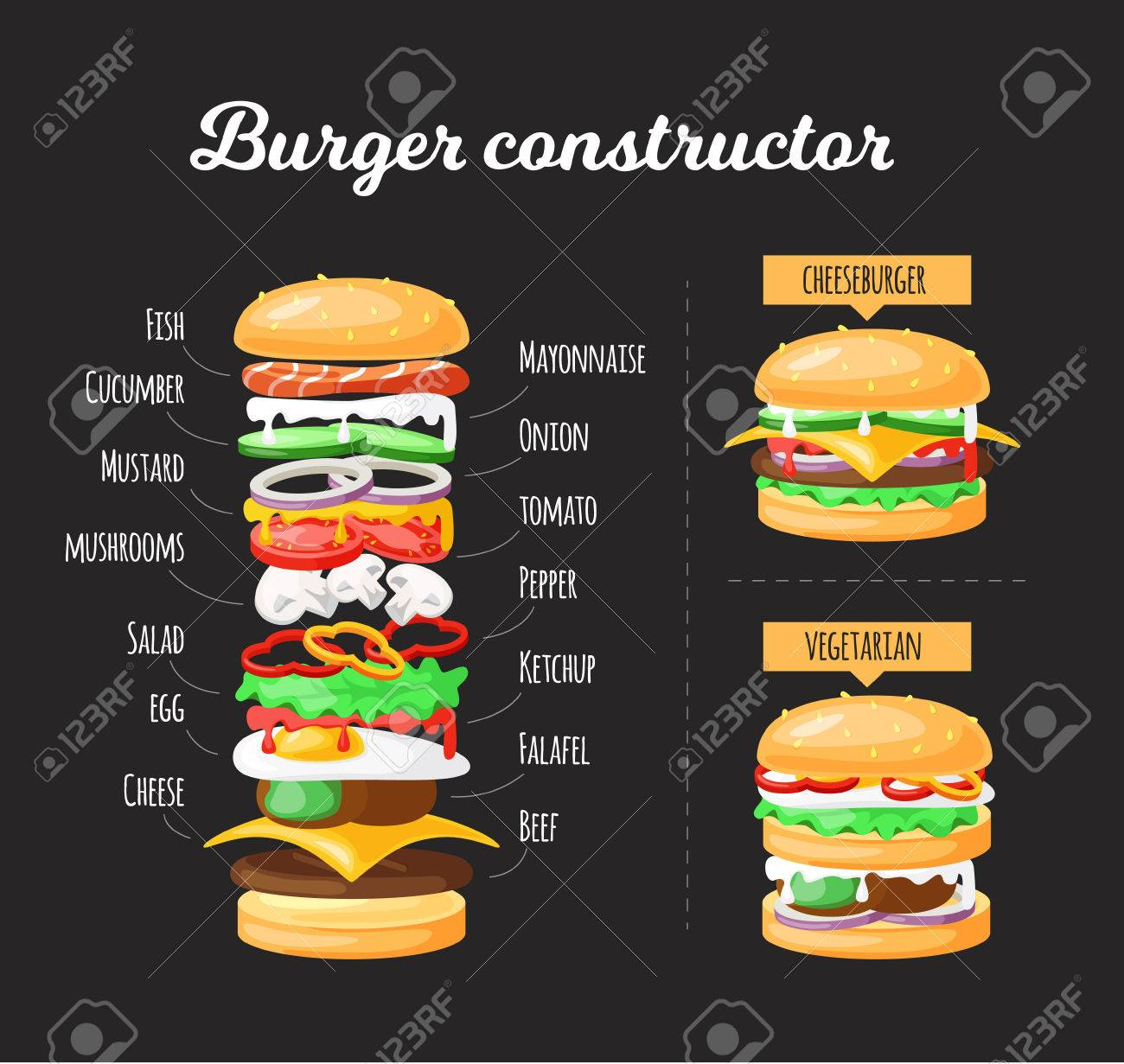 hamburger clipart layer