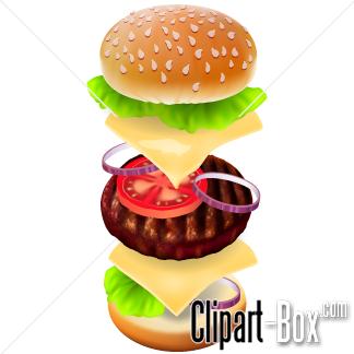 Hamburger clipart layer. Burger layers panda free