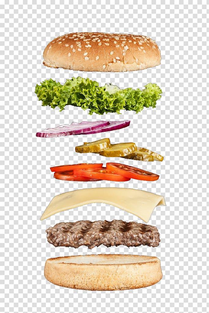 Cheeseburger whopper buffalo burger. Hamburger clipart layer