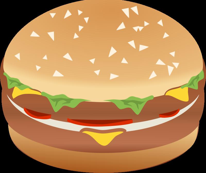 hamburger clipart part