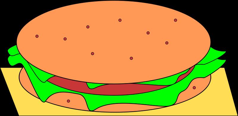 Hamburger play food crochet. Taste clipart juicy
