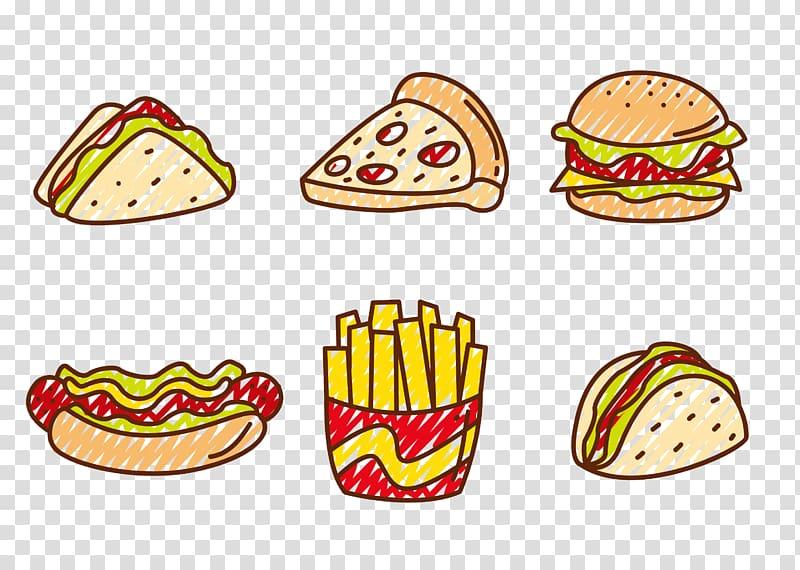 Hamburger clipart pizza. Fast food hot dog