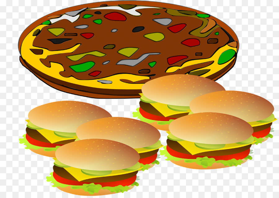 Junk food cartoon . Hamburger clipart pizza
