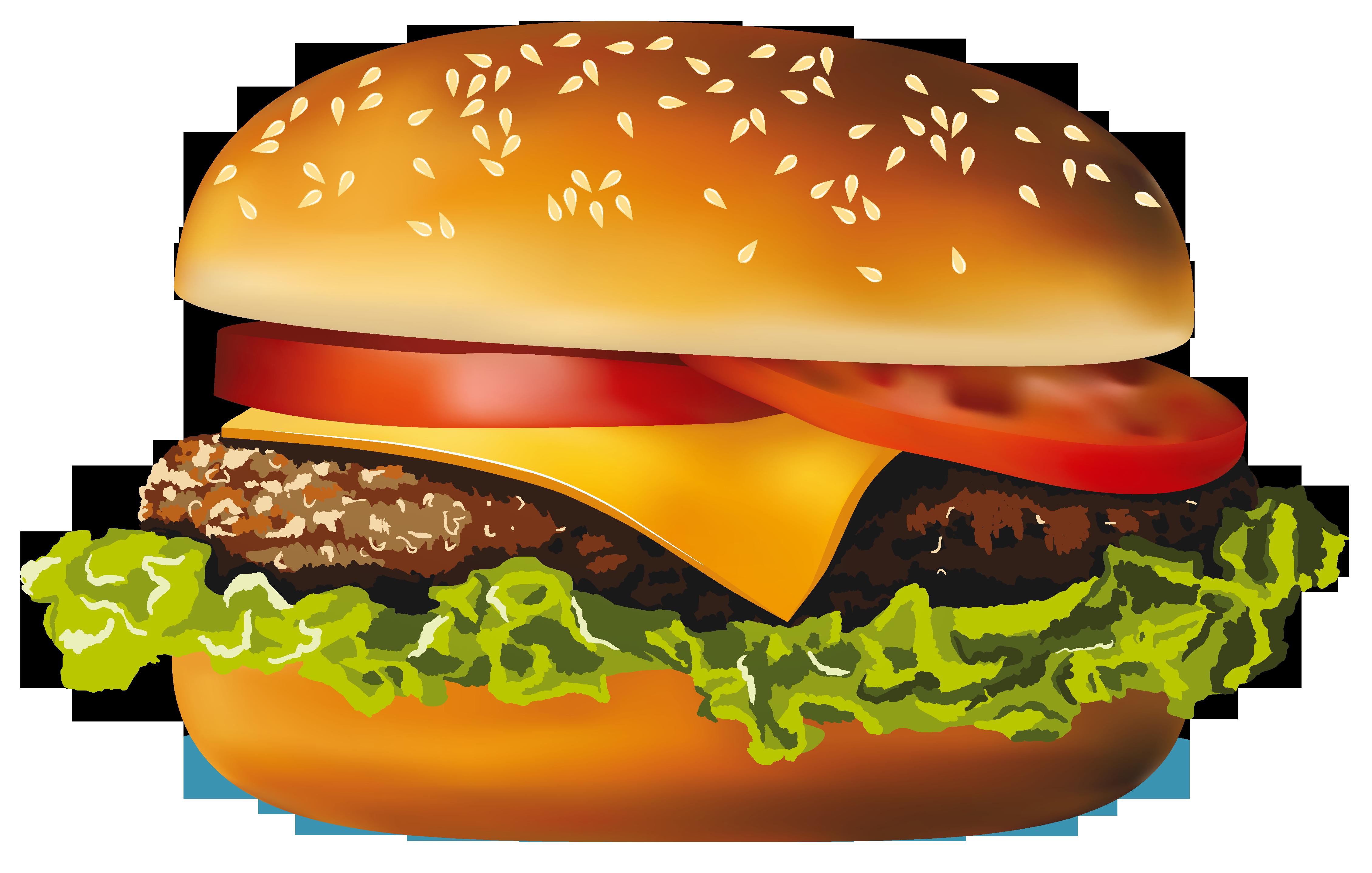 Hot dog fast food. Hamburger clipart pizza