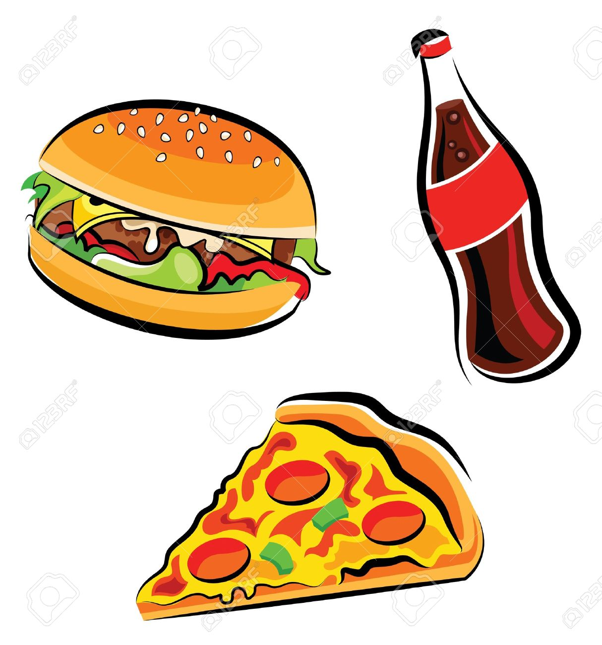 Hamburger clipart pizza. Collection of free download