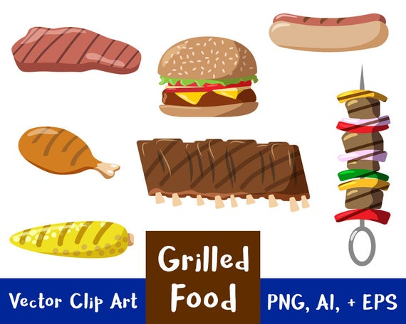 Hamburger clipart printable. Grilled food grilling clip
