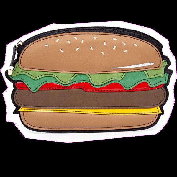 Hamburger shaped bagmebaby. Wallet clipart clutch