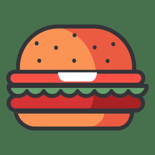 Hamburger icon png. Fast food flat transparent