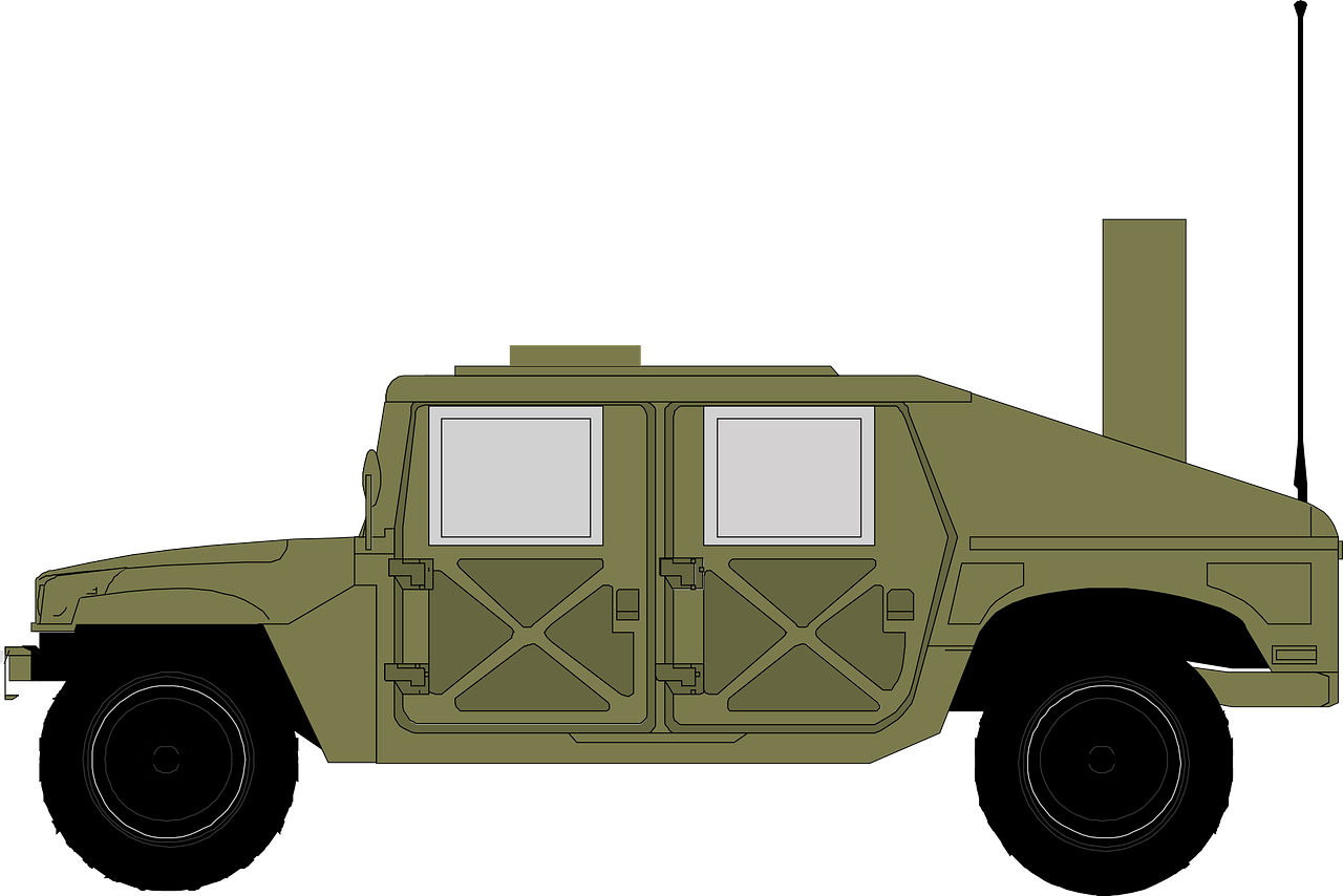 Jeep clipart army. Hammer military green png