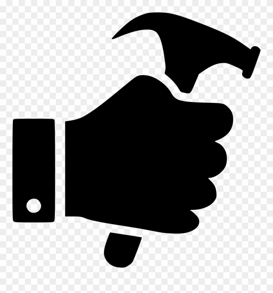 Hand icon png . Hammer clipart design technology tool
