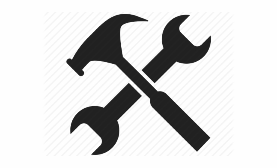 Hammer clipart hammer wrench. Spanner work tool and