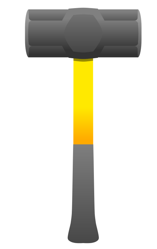 Hammer clipart malleability. Sledgehammer cliparts co free