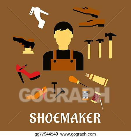 Hammer clipart shoemaker tool. Vector illustration with tools