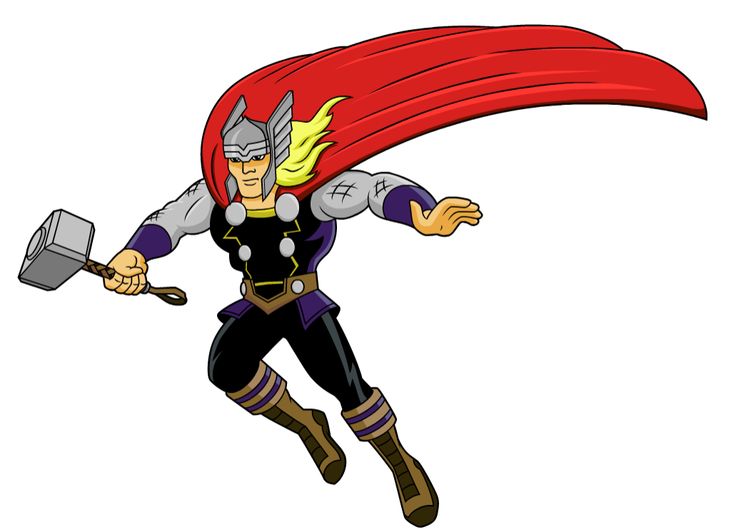 Marvel pencil and in. Hammer clipart thor