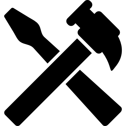 Hammer icon png. And screwdriver tools cross
