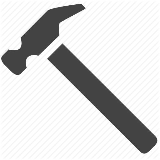 Glyph by smarticons equipment. Hammer icon png