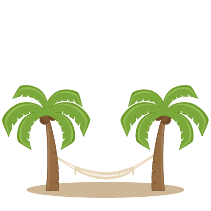 Hammock clipart. Palm trees with svg
