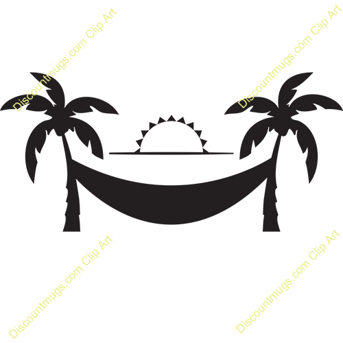 Hammock clipart. Palm tree