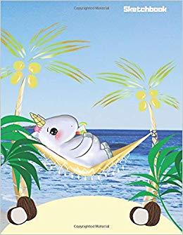 Hammock clipart book lover. Sketchbook cute kawaii holiday