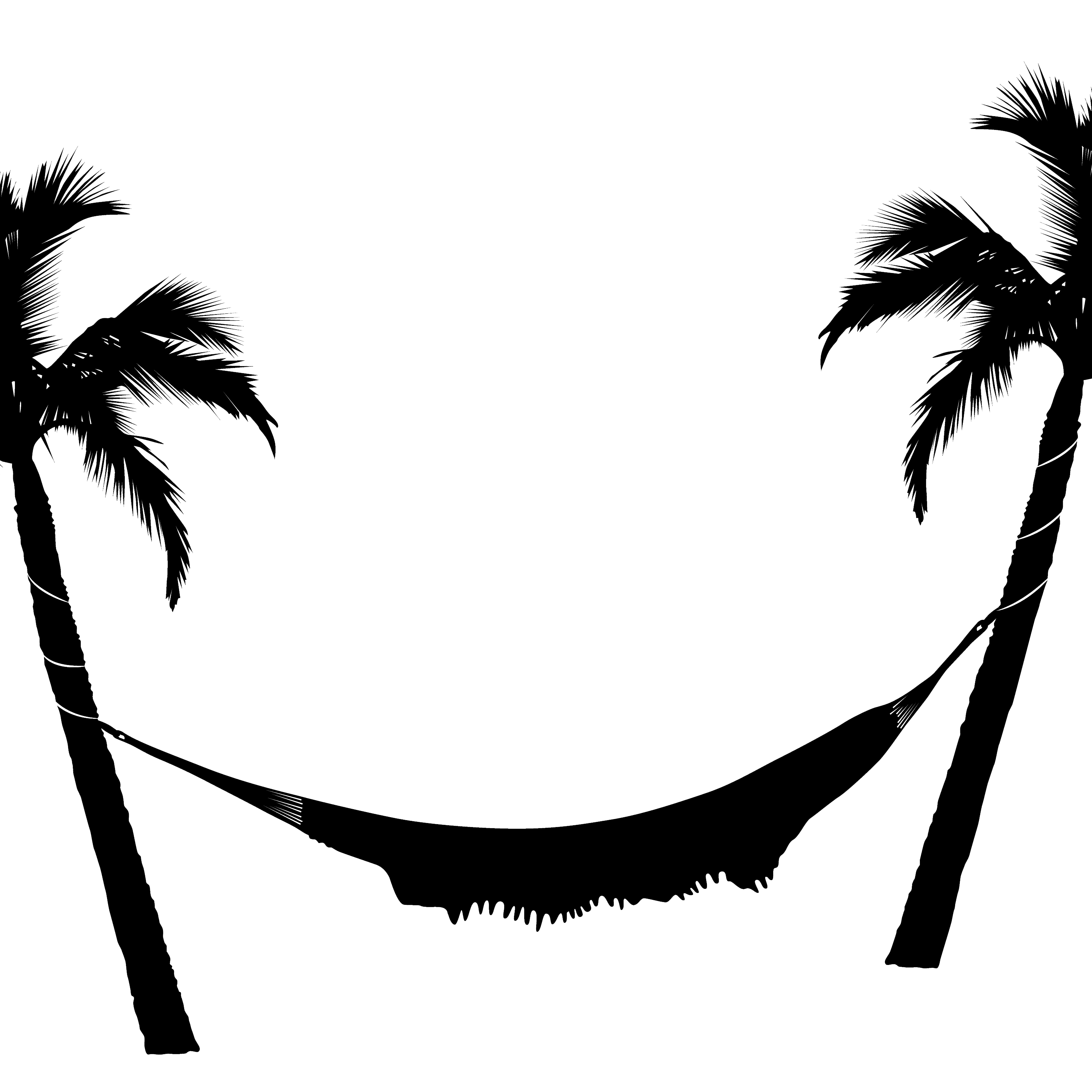 And trees transparent png. Palm clipart hammock